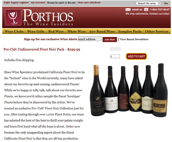 """Porthos - offering its customers the chance to buy """"cult"""" wines while they're still affordable"""