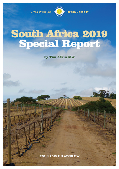 2019 South Africa Special Report – Tim Atkin – Master of Wine